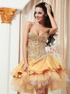 Fancy - 2013 Style A-line Sweetheart Rhinestone Sleeveless Short / Mini Tulle Cocktail Dresses/ Homecoming Dresses