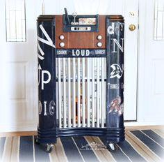 Bliss Ranch Vintage Radio Cabinet Bar #maisonblanchepaint  #paintedfurniture #ad