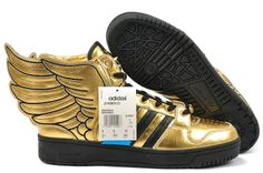 new arrival 319bc 82c92 Adidas Originals by Originals Jeremy Scott JS Wings Leather Black Gold