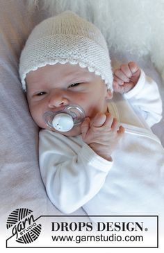 Baby Knitting Patterns, Baby Booties Knitting Pattern, Baby Hat Patterns, Baby Hats Knitting, Knitting For Kids, Free Knitting, Knitted Hats, Crochet Patterns, Drops Design