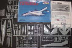 Hasegawa McDONNELL DOUGLAS F-4E PHANTOM II Model 1/72 Scale Unbuilt