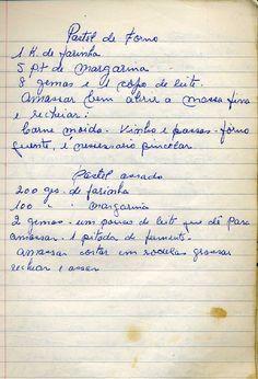 Culinaria  -_livro_de_receitas Old Recipes, Vintage Recipes, Other Recipes, Cooking Recipes, Cooking Food, Jam Cookies, Cake & Co, My Cookbook, Portuguese Recipes
