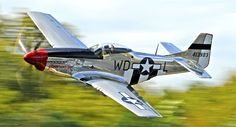 """P-51 Mustang  """"QuickLowPass"""" by Rod Reilly,"""