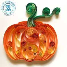 Etsy :: Your place to buy and sell all things handmade Quilled Roses, Neli Quilling, Quilling Comb, Quilling Jewelry, Quilling Patterns, Quilling Designs, Halloween Art, Halloween Pumpkins, Paper Quilling For Beginners