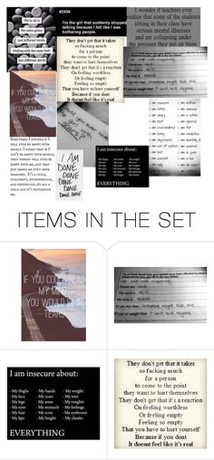 """IM SO DONE WITH LIFE I NEED TO DISAPEAR"" by mollycraig110011 ❤ liked on Polyvore featuring art"