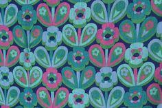 vintage Moygashel screen print fabric