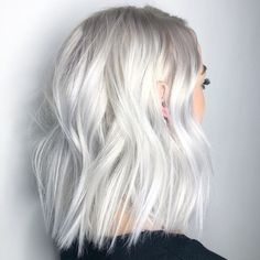 -Clear Platinum-White Blonde Haircolor Formula white blonde platinum blonde baby white blonde hair olaplex thejesjewels See it Short White Hair, White Blonde Hair, Silver Blonde, Blonde Color, Short Platinum Blonde Hair, Silver Platinum Hair, Baby Blonde Hair, Gray Hair, Toner For Blonde Hair