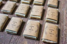 These adorable MINI SOAP PARTY FAVORS are rustic, earthy and gorgeous! Our handmade soap wedding favors are the perfect finishing touch for your guests and can be customized with your event details. Each bar is handcrafted and hand cut making them perfectly unique. Size: Approximate