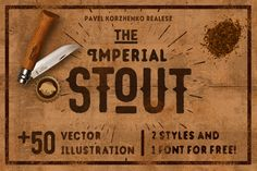 STOUT & Many freebies. by Pavel Korzhenko on Creative Market