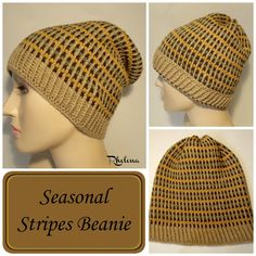 Seasonal Stripes Beanie By Rhelena - Free Crochet pattern - (crochetncrafts)