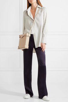 Manu Atelier - Pristine Leather Shoulder Bag - Beige - one size