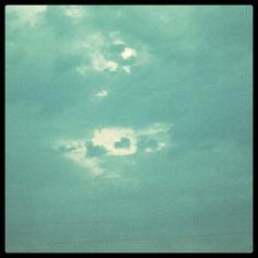 Heart shaped cloud.