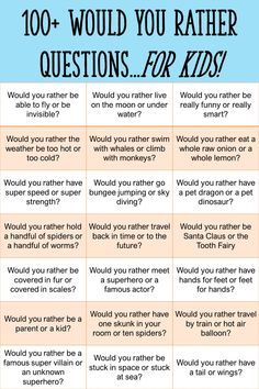 Would You Rather Kids, Would You Rather Questions, Therapy Activities, Activities For Kids, Conversation Starters For Kids, Tutorial Class, Journal Questions, Fun Questions To Ask, Question Of The Day