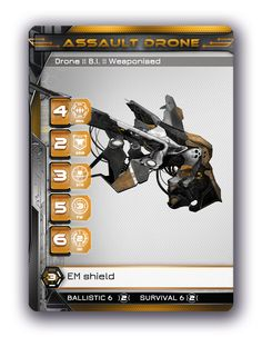 Assault Drone.   Art by Milan Nikolic. Graphic Design by Aleksandra Bilic. Find the game at: http://burning-games.com