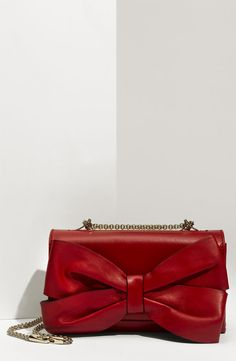 I'm in love with this Valentino Bow Nappa Leather Shoulder Bag!