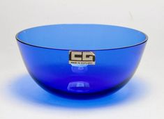 Lovely Cobalt Blue Vintage Caithness Glass Bowl With Early Sticker Caithness Glass, Cooking Timer, Cobalt Blue, Vintage Antiques, Glass Art, Retro Vintage, Porcelain, Pottery, Tableware