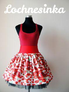 Sukýnka NESSIE IN BLOOM kolová no.9 maková Stencils, Bloom, Dots, Summer Dresses, Sewing, Fashion, Stitches, Moda, Dressmaking