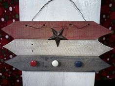 Red, White, and Blue Knob Hanger.