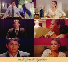 """Nathan - """"...And my wife couldn't be here today, so I just wanted to say one thing to her. Haley, no matter what happens, we'll face it together. But I promise you, I've never been happier. Everything's gonna be okay. I love you. Haley - (watching tv) """"I love you, too."""""""