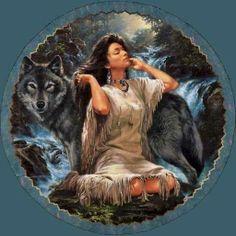 native wolf woman