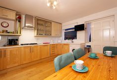 Eating out is fun, but can get tedious and expensive every day of a holiday. Why not stay in and cook in this lovely kitchen?
