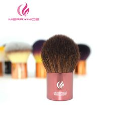Merrynice Professional Makeup Brush Goat Hair  Foundation Powder beauty Brush Cosmetic Make up brushesTool Wooden Kabuki  Brush