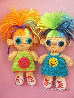 bonecas bem coloridas
