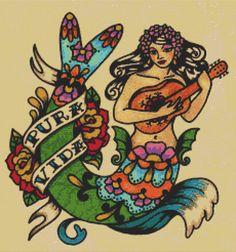 Etsy/tattoo-cross-stitch-kit-pura-vida-by