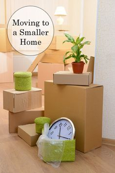 It can be tough to move to a smaller space and keep all of your stuff. These tips will help you clean out and consoliate your belongings as well as help you fit them all in your new smaller home.