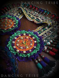 Nomad Desert Tassel Belt Tribal Belly Dance Belt by DancingTribe