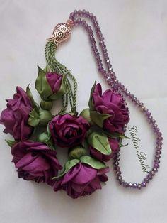 ♥ Ribbon Art, Fabric Ribbon, Fiber Art Jewelry, Jewelry Art, Diy Flowers, Fabric Flowers, Shibori, Floral Jeans, Ramadan Decorations