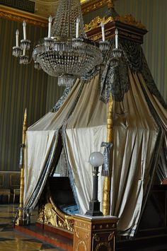 Joachim Murat's bedroom and Bed inside the Royal Palace of Caserta