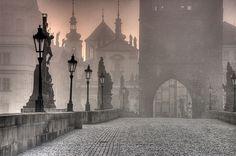 Charles Bridge by Jaroslav Zakravsky Prague, Czech Republic