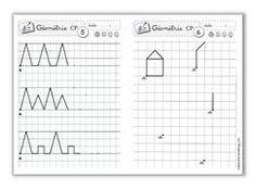 Fichiers géométrie CP et CE1, écriture CP et CE1 Cycle 2, Homeschool Math, Math For Kids, Fine Motor Skills, Montessori, Worksheets, Bullet Journal, Teacher, Classroom