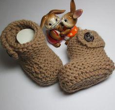 Stiefel & Booties - Gestrickte Babybooties Extrawarm - ein Designerstück von…                                                                                                                                                                                 Mehr