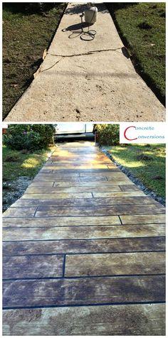 Quality Concrete , we make this at Stones Canada Cement Patio, Concrete Wood, Stamped Concrete, Concrete Porch, Concrete Floors, Outdoor Spaces, Outdoor Living, Driveways, Walkways