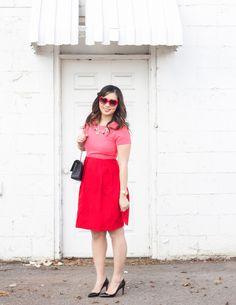 Pink and red outfit for Valentine's Day | valentine's day style | valentine's day fashion | style ideas for valentine's day | fashion tips for valentine's day || Sandy a la Mode