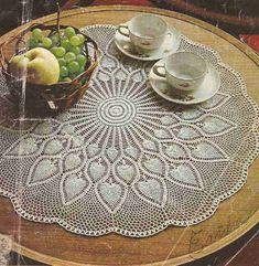 "Mural ""Gran Sol"" to crochet or crochet Crochet Table Topper, Crochet Tablecloth Pattern, Crochet Doily Diagram, Crochet Doily Patterns, Crochet Chart, Thread Crochet, Knit Or Crochet, Filet Crochet, Crochet Dollies"