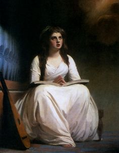 Romney, ''Emma Hamilton as St. Cecilia,'' c.1785