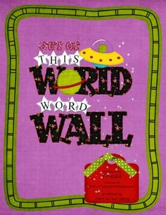 FREE! Space Theme Word Wall includes 158 high frequency words (Fry's First Hundred Words plus 58 additional words), one set of alphabet cards, 6 blank word cards