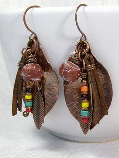 Native Tribal Earrings by Stoneweardesigns