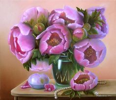 'Favorite Peonies' - Painting, 60 x 50cm ©2013 by Valentina Valevskaya.