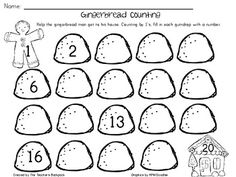 Gingerbread Counting (FREEBIE) - Cara Mrakovich - TeachersPayTeachers.com
