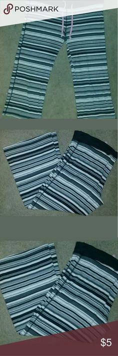 Victoria Secret pants P.J. bottoms Gently Used striped Capri cute Victoria Secret Pants Capris