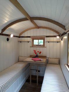 Here is our beautifully restored restoration shepherds hut. Shepherds Hut, Gypsy Caravan, Garden Office, Home Studio, Pet Beds, Caravans, Pool Designs, Tiny House, Restoration