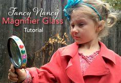 Fancy Nancy Magnifier Glass Easy Tutorial via LePetiteArbre.com