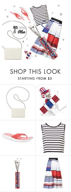 """""""Red, White, & Blue"""" by annbaker ❤ liked on Polyvore featuring Nine West, Easy Spirit, Pier 1 Imports, Milly, Kate Spade, redwhiteandblue and july4th"""