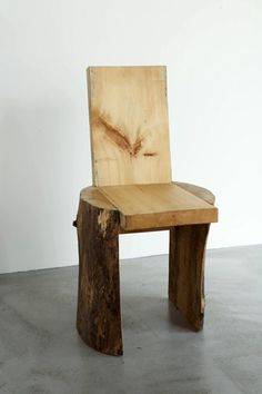 log chair with branches