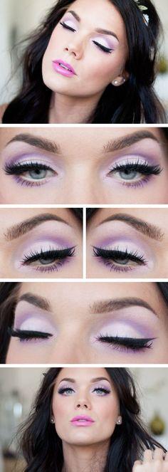 Linda hallberg #makeup #eyes #violet