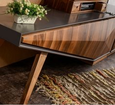 Dewoody Entertainment Center for TVs up to Furniture Dining Table, Tv Furniture, Modern Furniture, Furniture Design, Tv Unit Design, Shelf Design, Modern Dressing Table Designs, Tv Feature Wall, Bedroom Door Design
